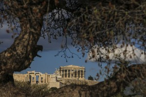 Acropolis of Athens, Greece, 5th century B.C. hill top temple monument